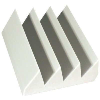 Fire Rated Acoustic Foam Bass Wedge White 6 inch