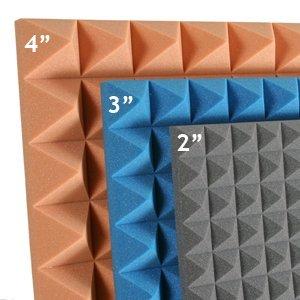 Acoustic Foam Pyramid 2,3 & 4 inch