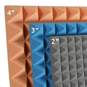 Pyramid 2,3 & 4 inch Acoustic Foam