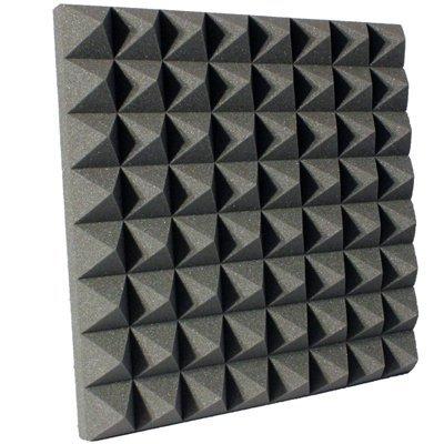 3 inch Charcoal Pyramid Acoustic Foam