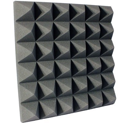 4 inch Charcoal Pyramid Acoustic Foam