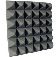 4 inch Charcoal Pyramid Studio Foam