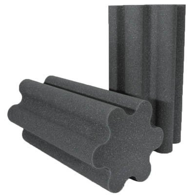 Spiral Trap Acoustic Foam Charcoal 24 inch
