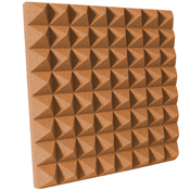 "Udderly Quiet™ Pyramid Acoustic Foam 3"" Pumpkin"