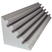 fire rated acoustic foam corner trap gray