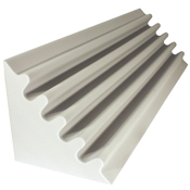 fire rated acoustic foam corner trap white