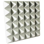 "Udderly Quiet™ Class A™ Pyramid Acoustic Foam 4"" White"