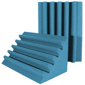 acoustic foam corner trap aqua